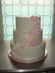 свадебный торт из крема